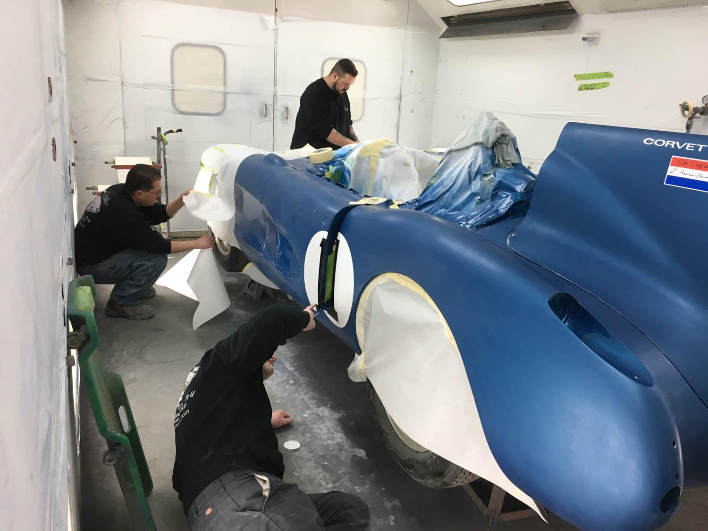 Corvette SR-2 restoration paint booth