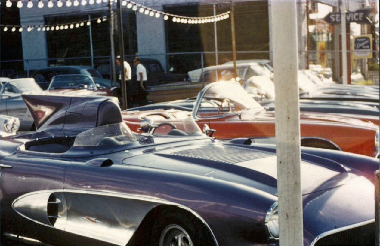 row of corvettes with 1956 SR-2