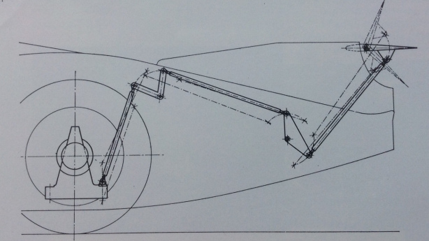 Porsche wing flaps drawing