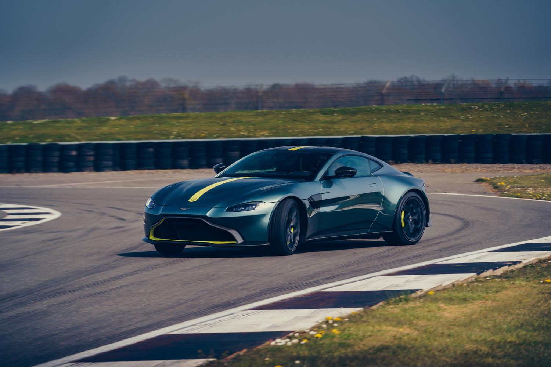 Aston Martin Vantage AMR 3/4 front on track