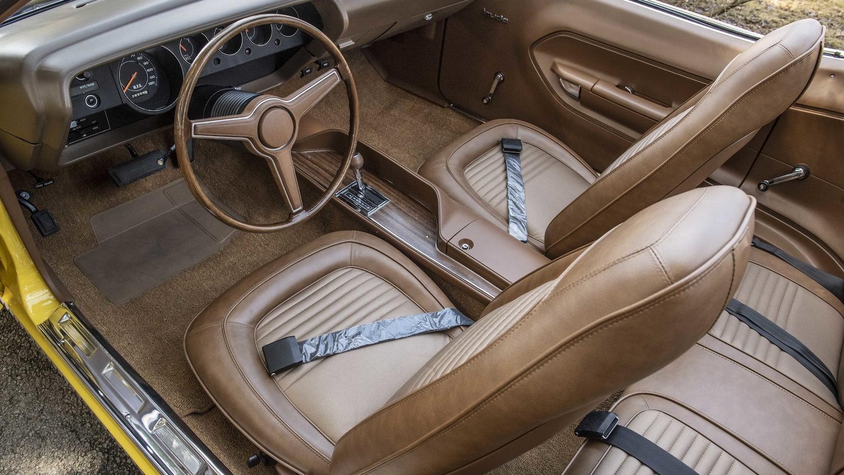 1970 Plymouth Hemi Cuda Convertible driver interior