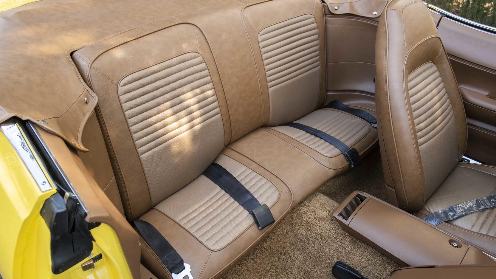 1970 Plymouth Hemi Cuda Convertible rear seats