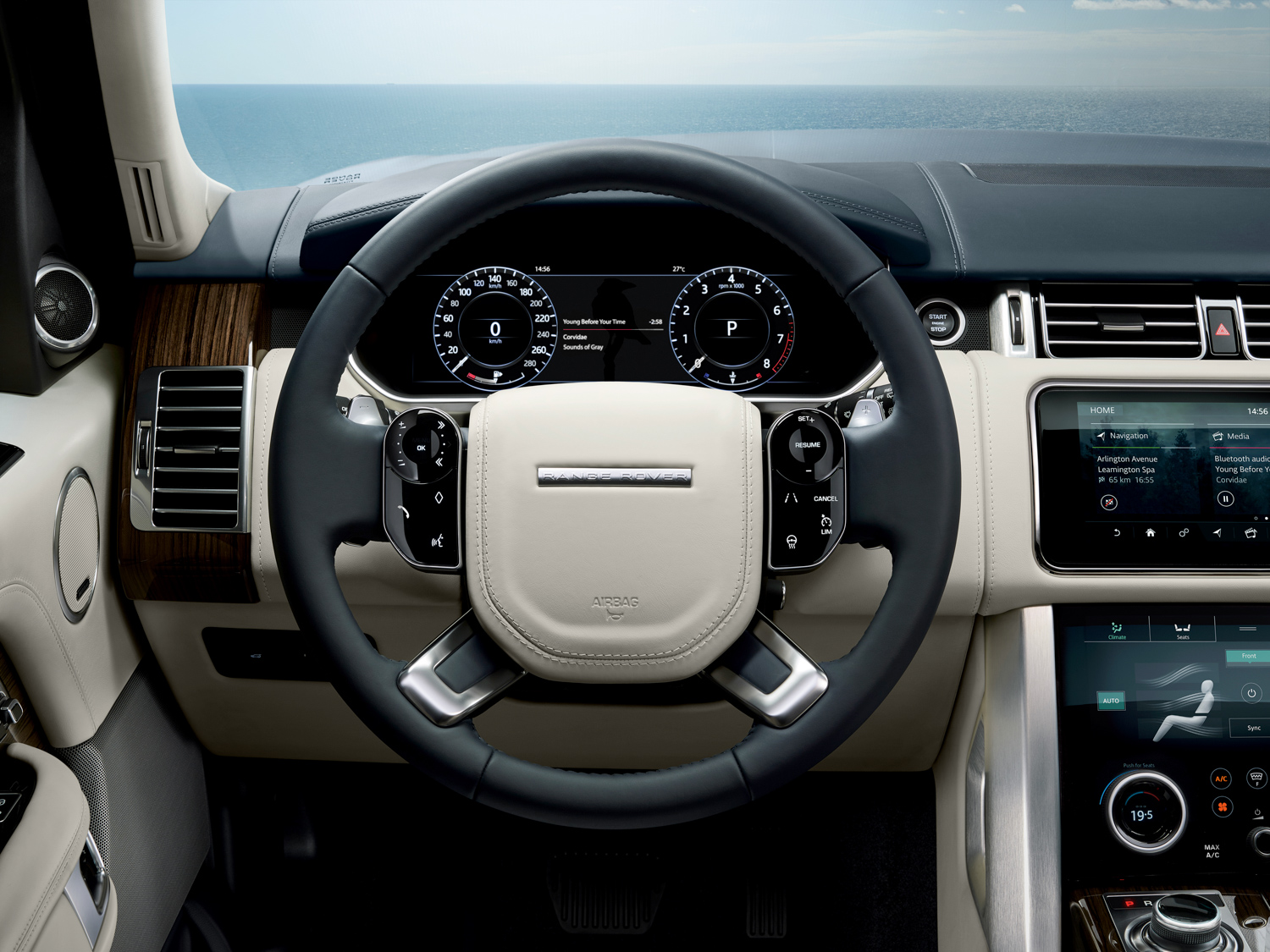2020 Land Rover Range Rover wheel and gauges