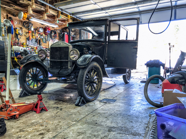 1926 Ford Model T wood wheels
