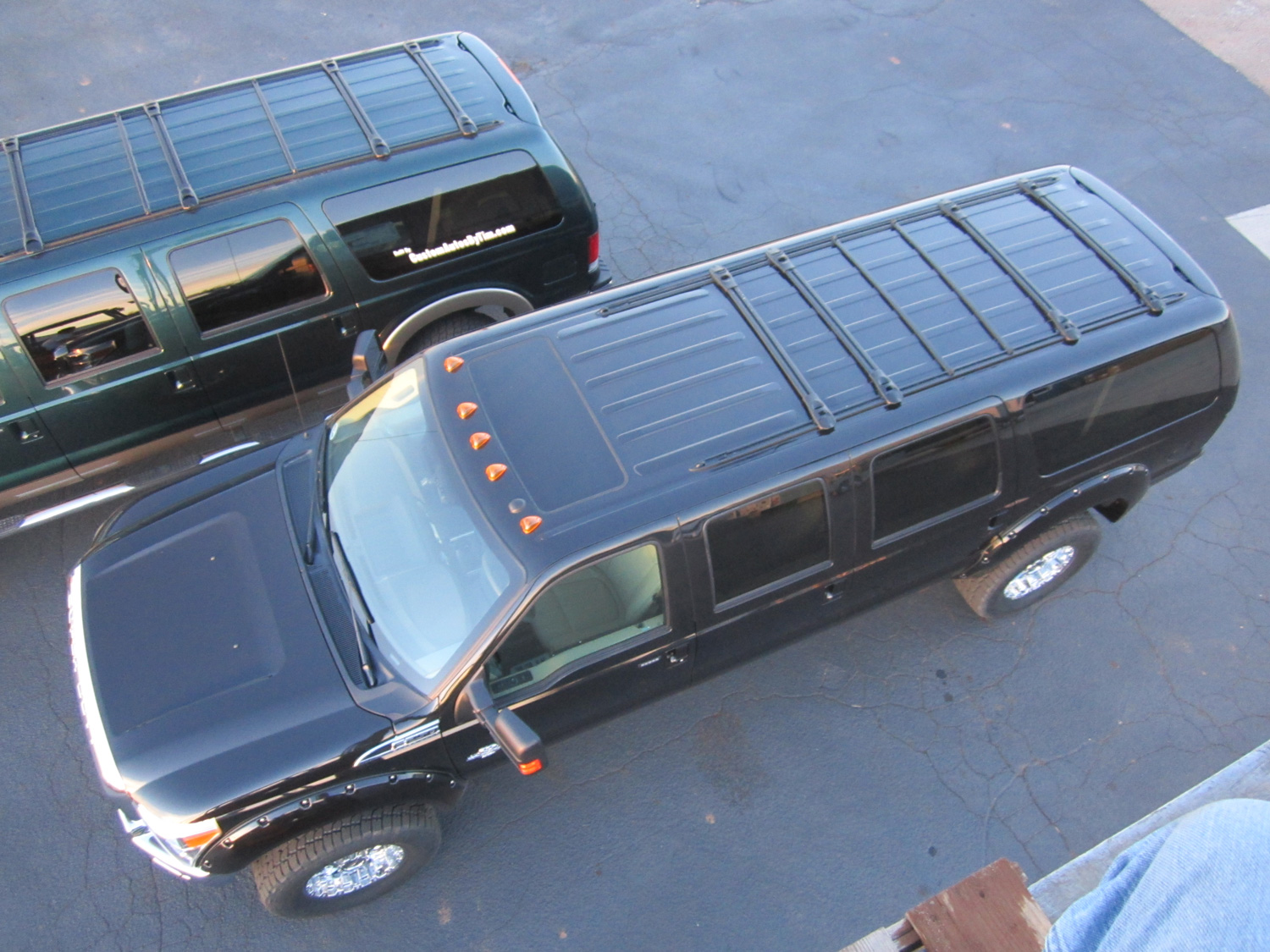 New 6 door Ford Excursion overhead
