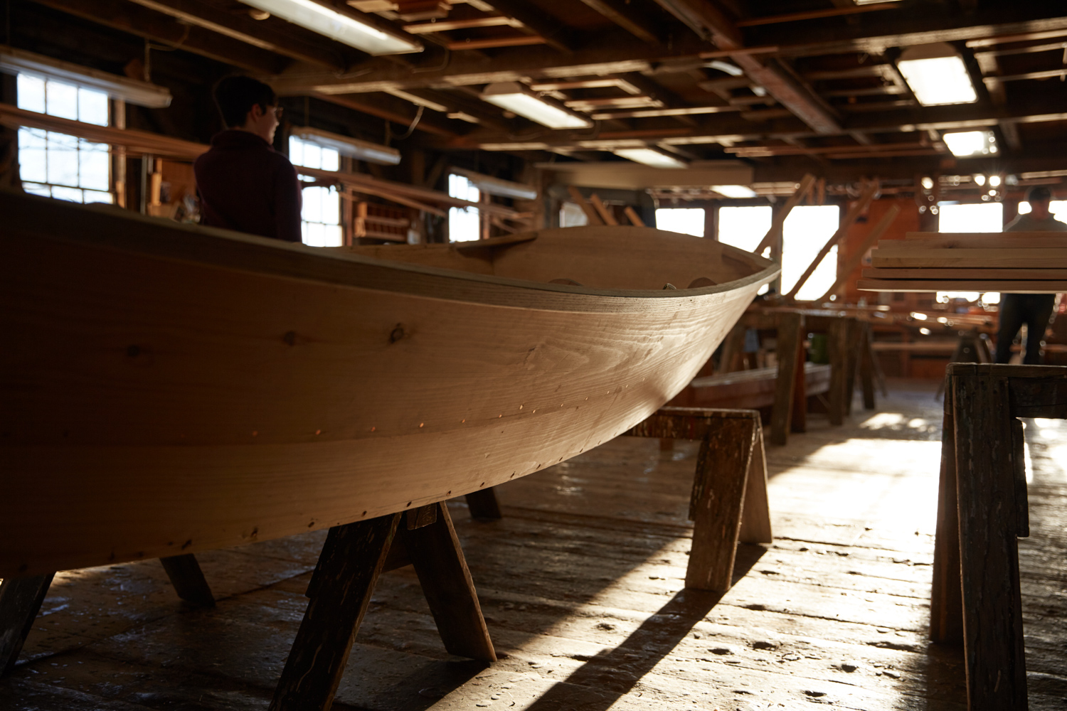 Boat school small unfinished craft