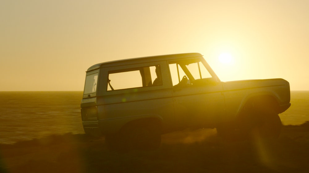 Zero Labs Bronco at sunset