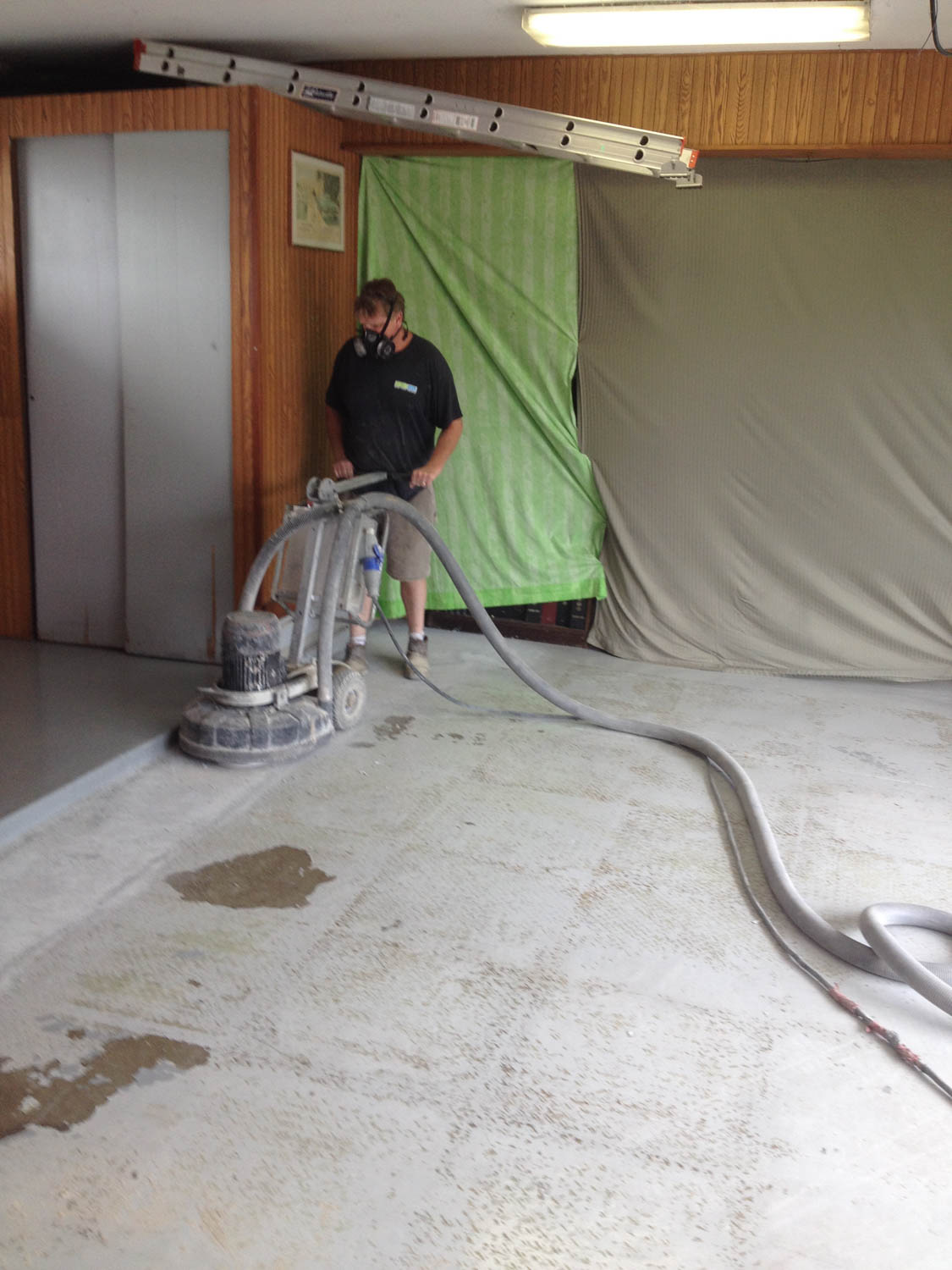 power washing the floor