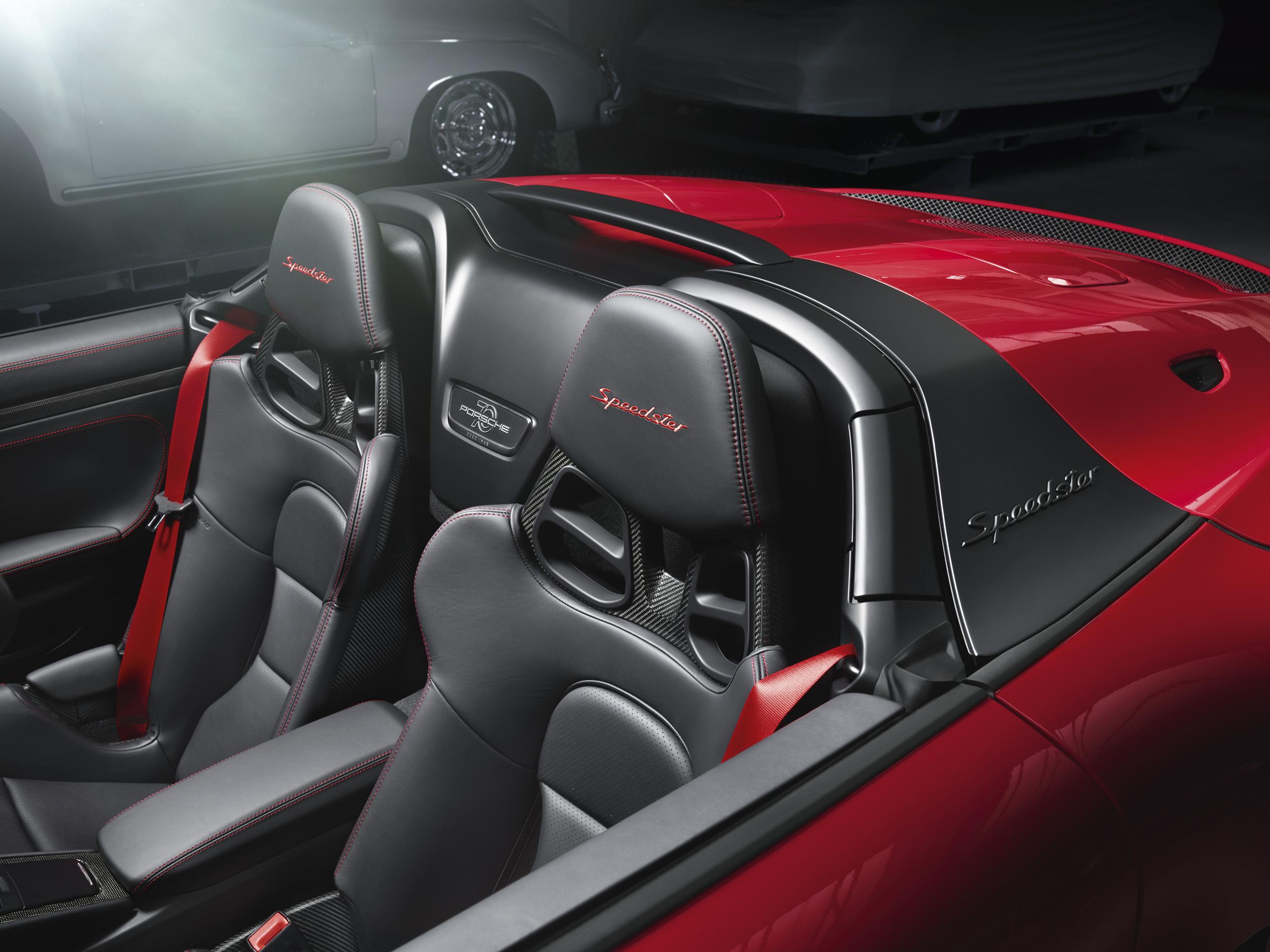 Porsche 911 Speedster seat detail