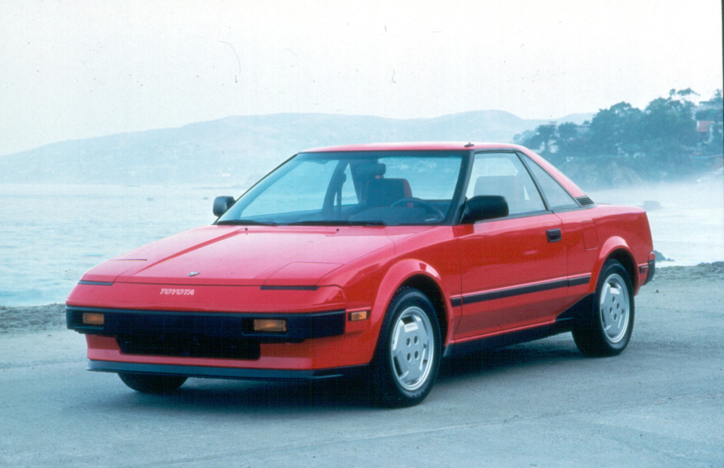 Red 1985 Toyota MR2