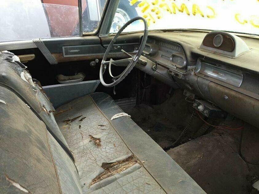 1958 Cadillac camper interior
