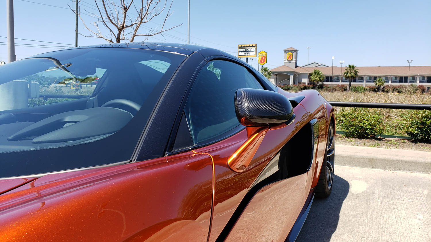 McLaren 570S Spider side mirror