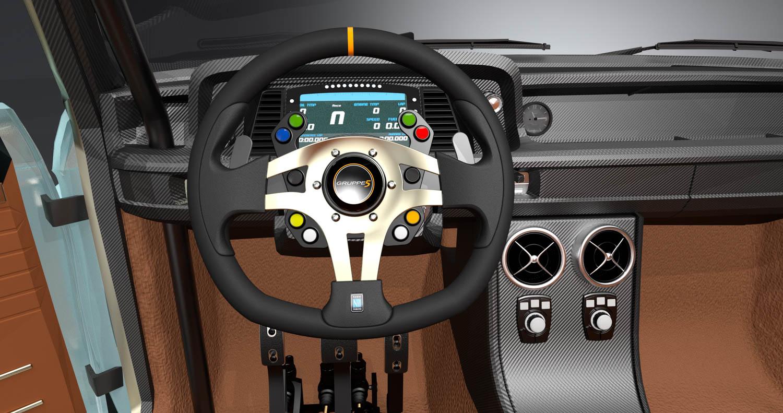 BMW 2002 steering wheel render