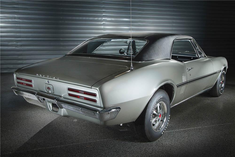 1967 Pontiac Firebird rear 3/4