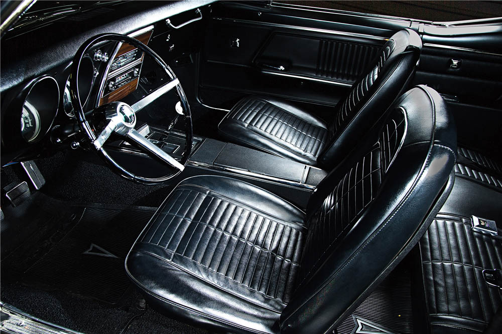 1967 Pontiac Firebird black leather interior
