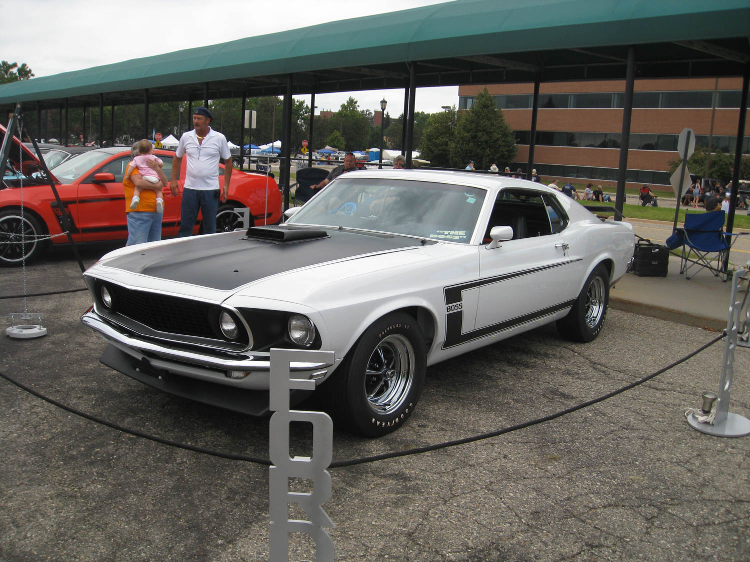 1969 Ford Mustang Boss Prototype front 3/4