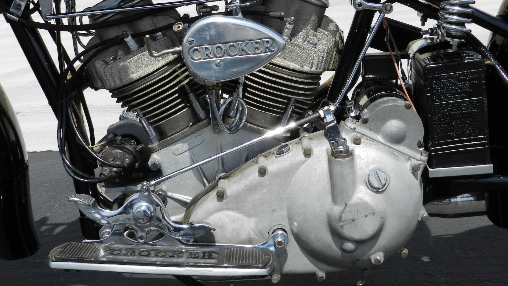1940 Crocker 'Big Tank' Big Twin engine