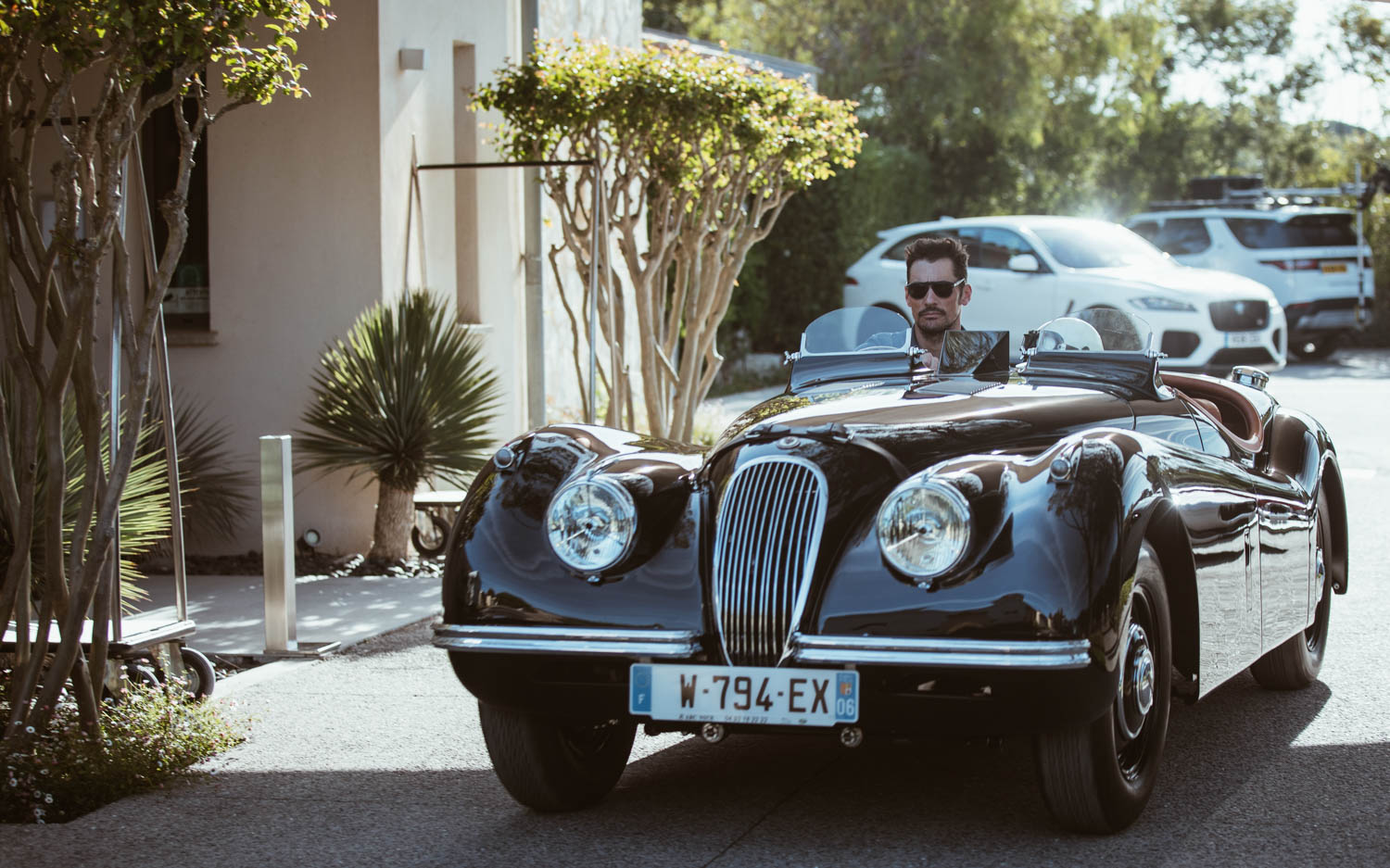 Jaguar XK120 drving