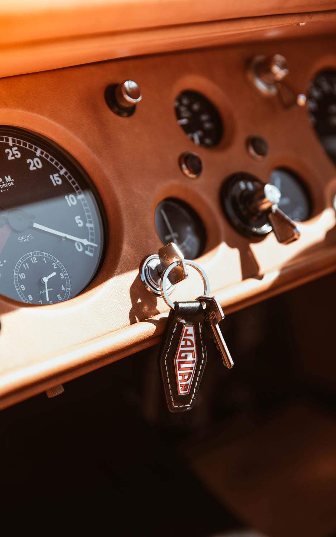 Jaguar XK120 keys