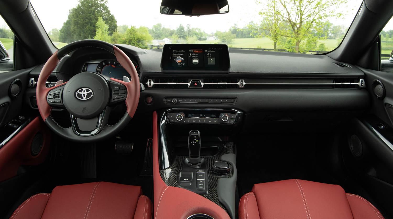 2020 Toyota Supra GR interior steering wheel