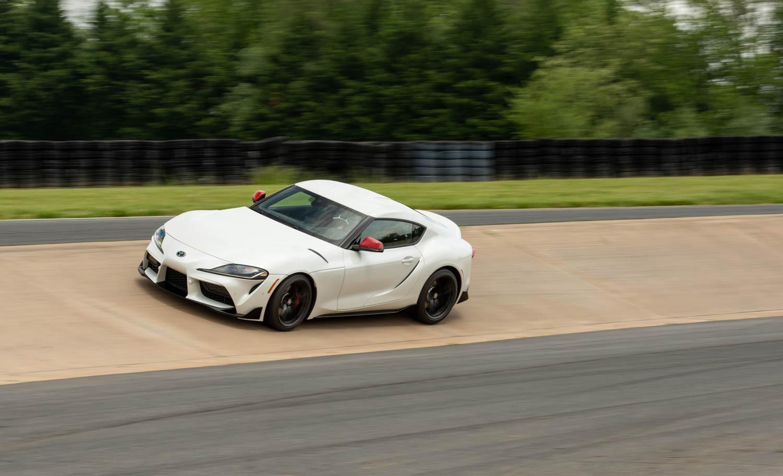 2020 Toyota Supra GR on the track
