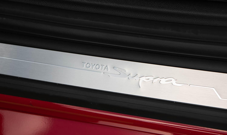 2020 Toyota Supra GR plaque