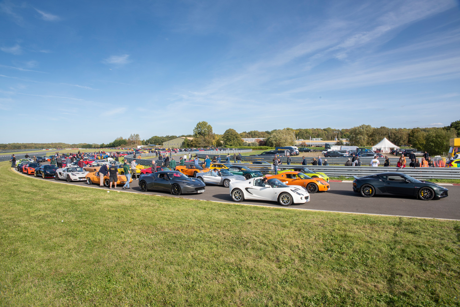 More than 1600 cars showed up for the Lotus 70th anniversary party at Hethel.