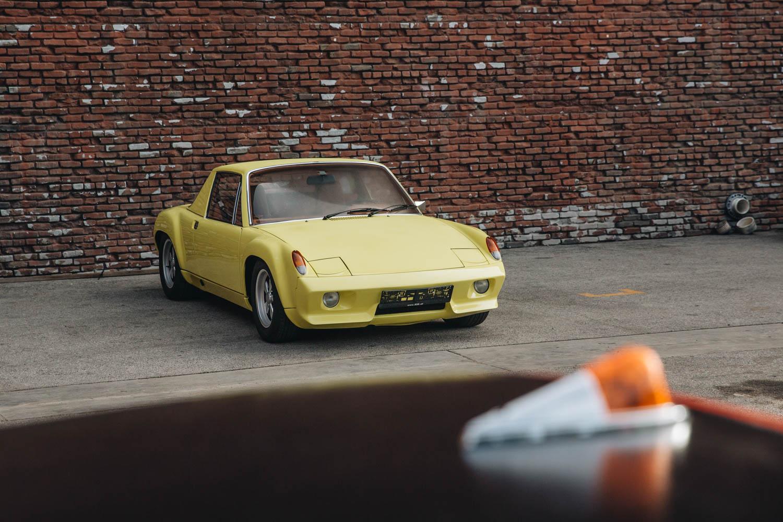 yellow Porsche at Luftgekühlt