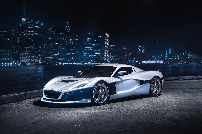 white Rimac Automobili