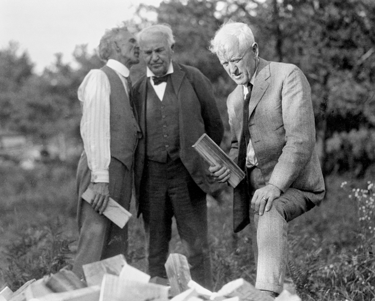 Henry Ford, Thomas Edison, and Ed Kingsford