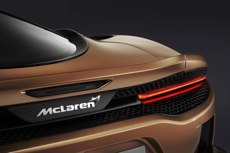 McLaren GT rear badge