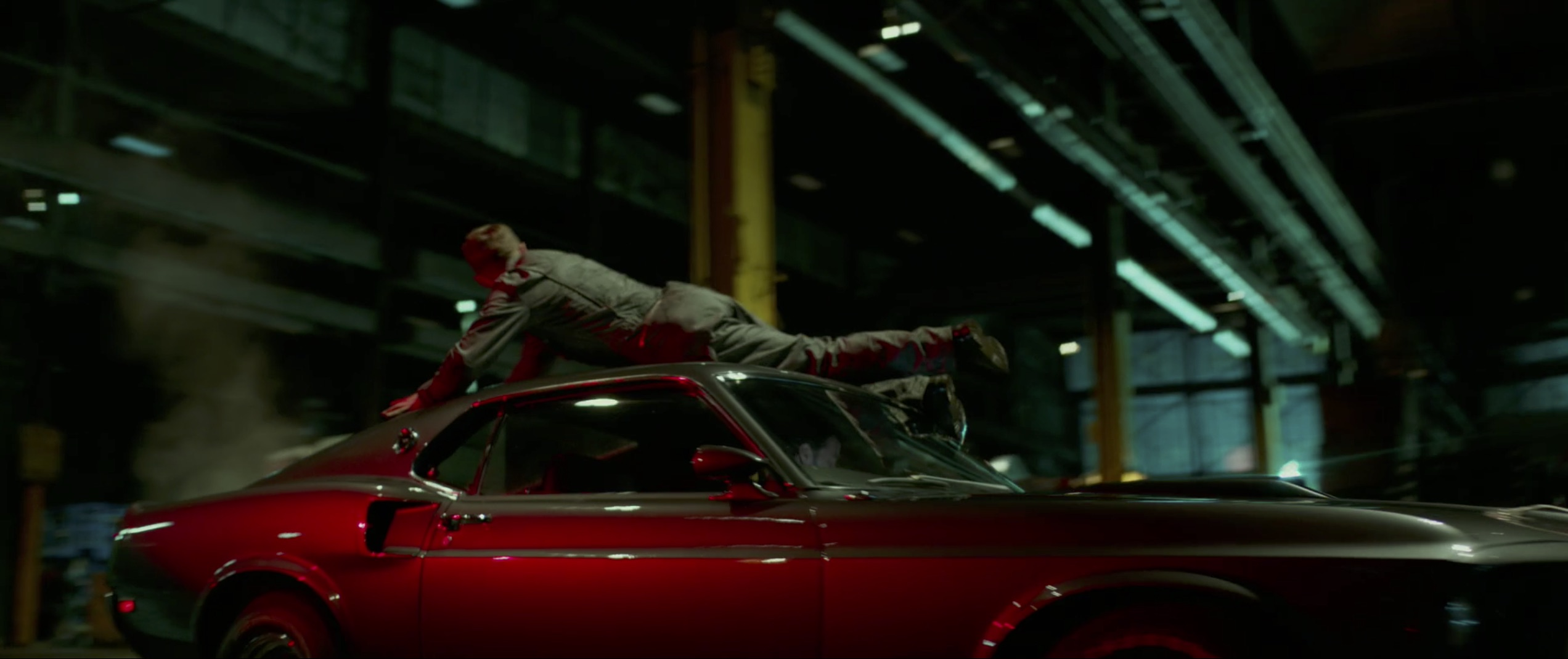 John Wick: Chapter 2 man on car roof