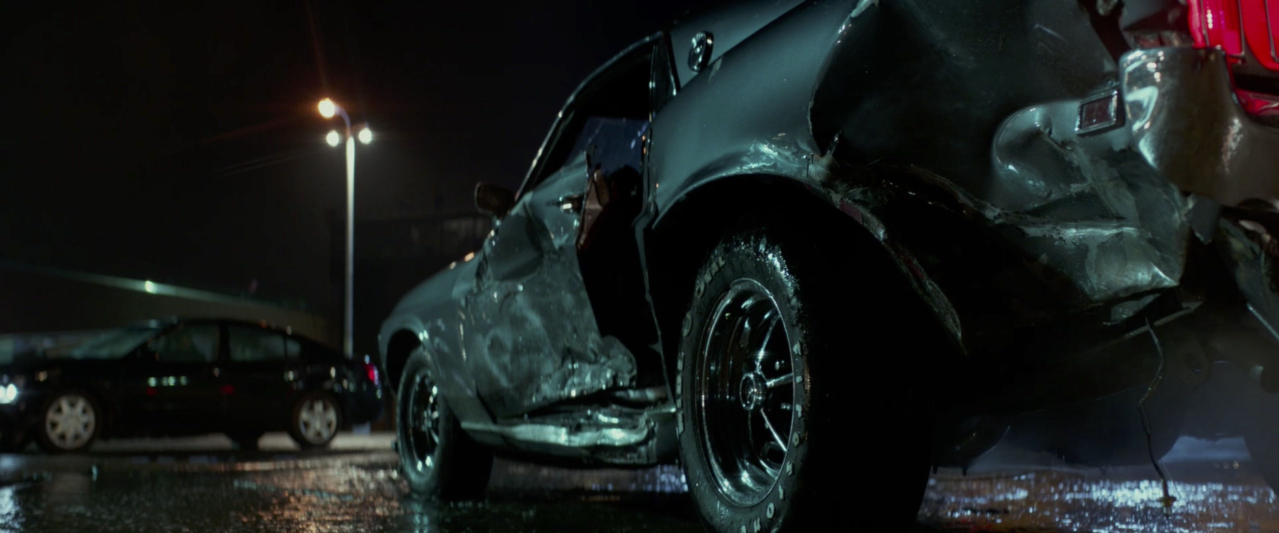 John Wick: Chapter 2 mustang crashed up