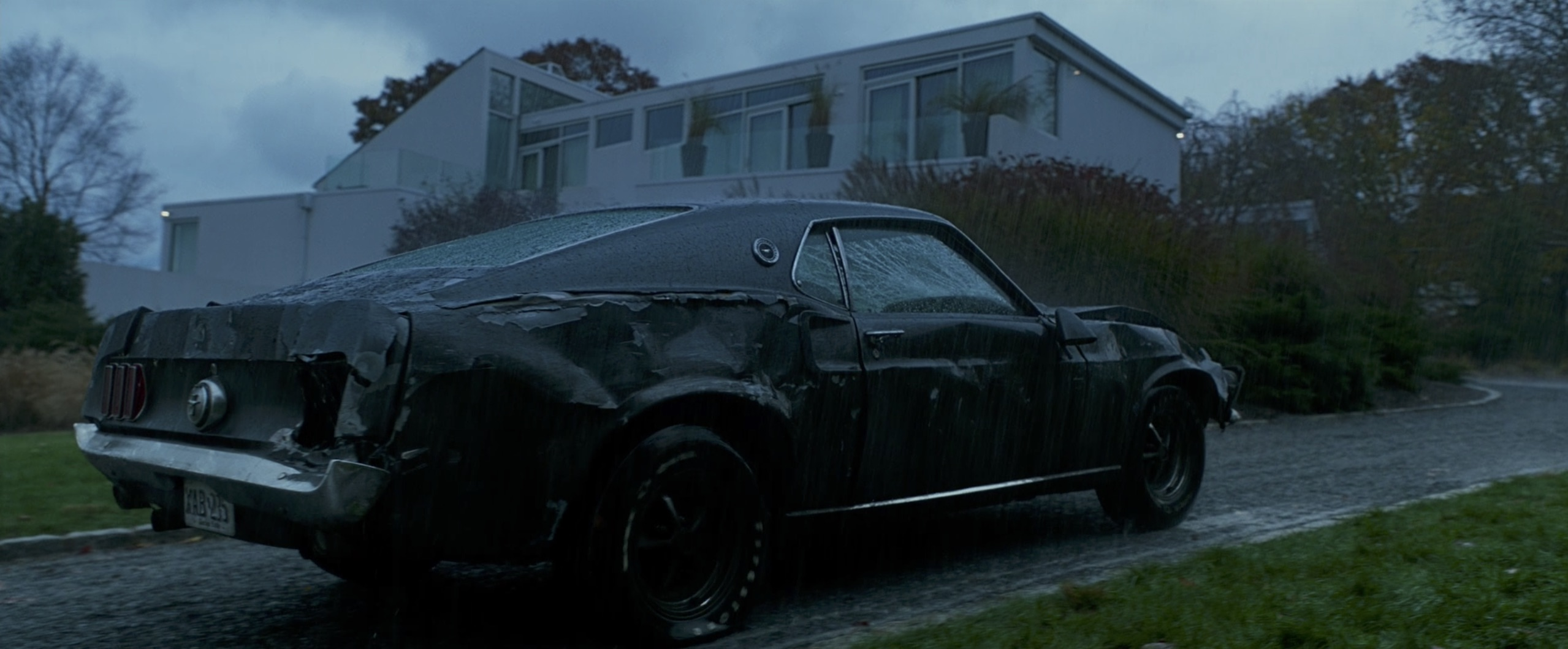 destroyed Ford Mustang