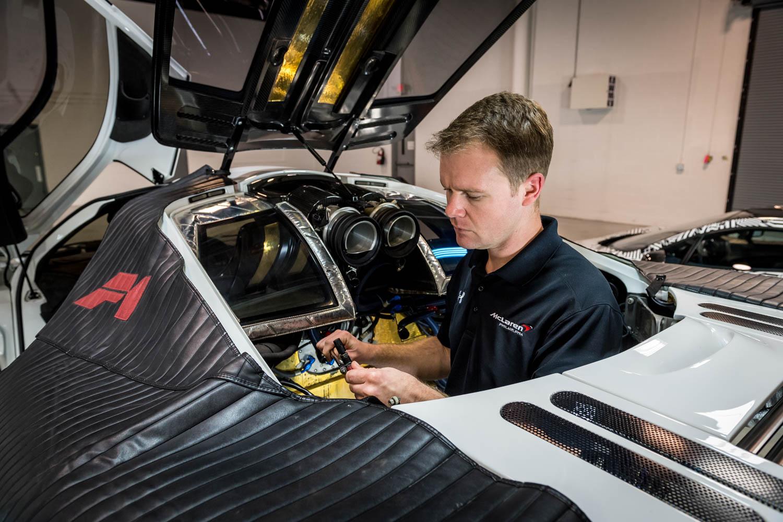 McLaren US Service Center work