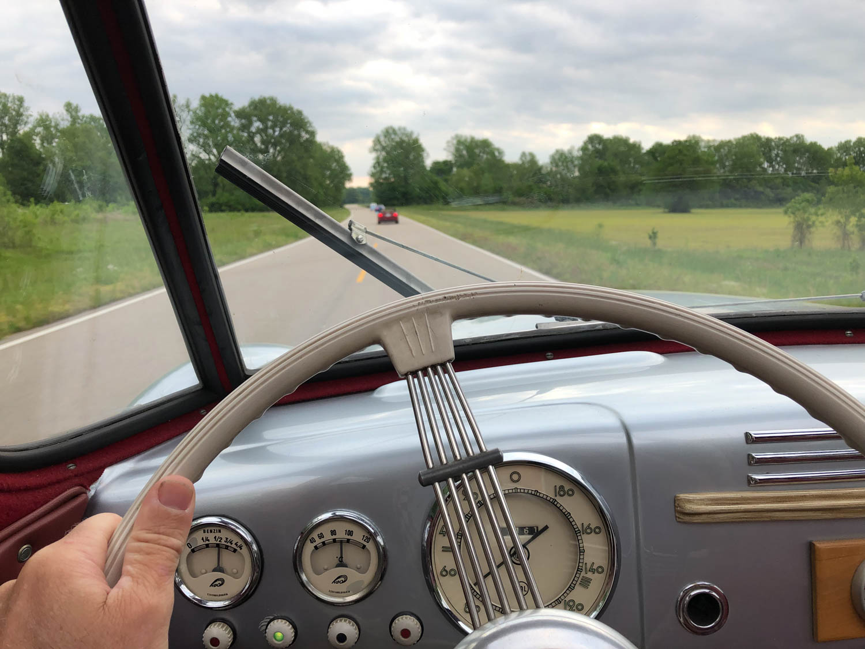 Tatra T-87 on the road