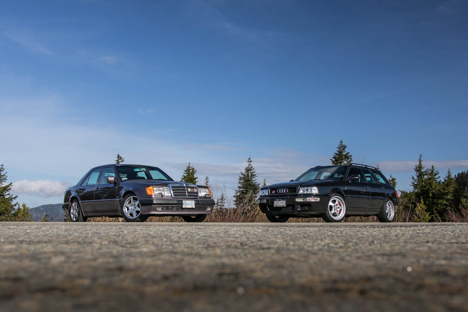 Driving the Mercedes-Benz and Audi cars built by Porsche