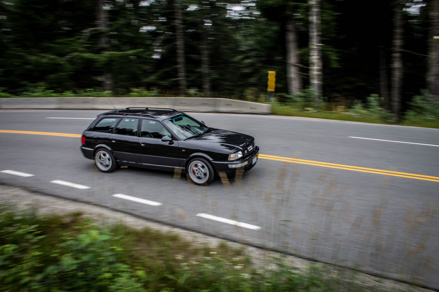 Audi RS2 driving