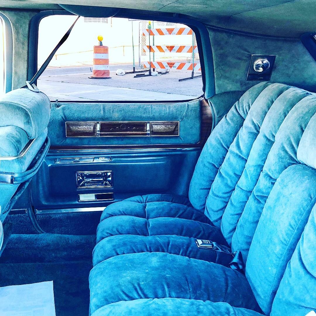 1976 Cadillac Fleetwood Talisman back seat