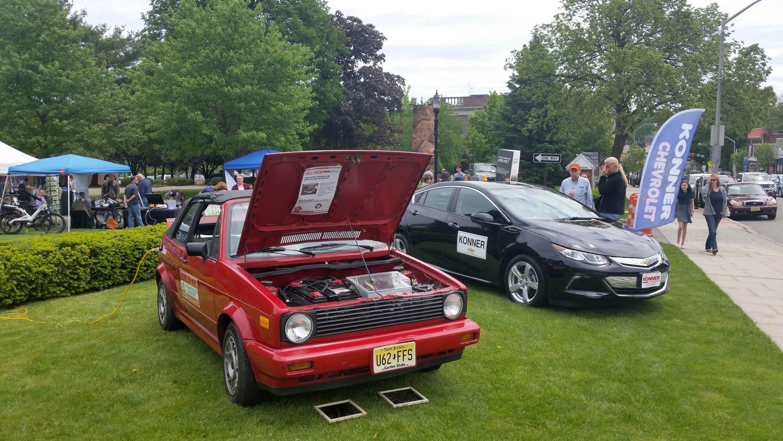 Volkswagen EV Rabbit at show