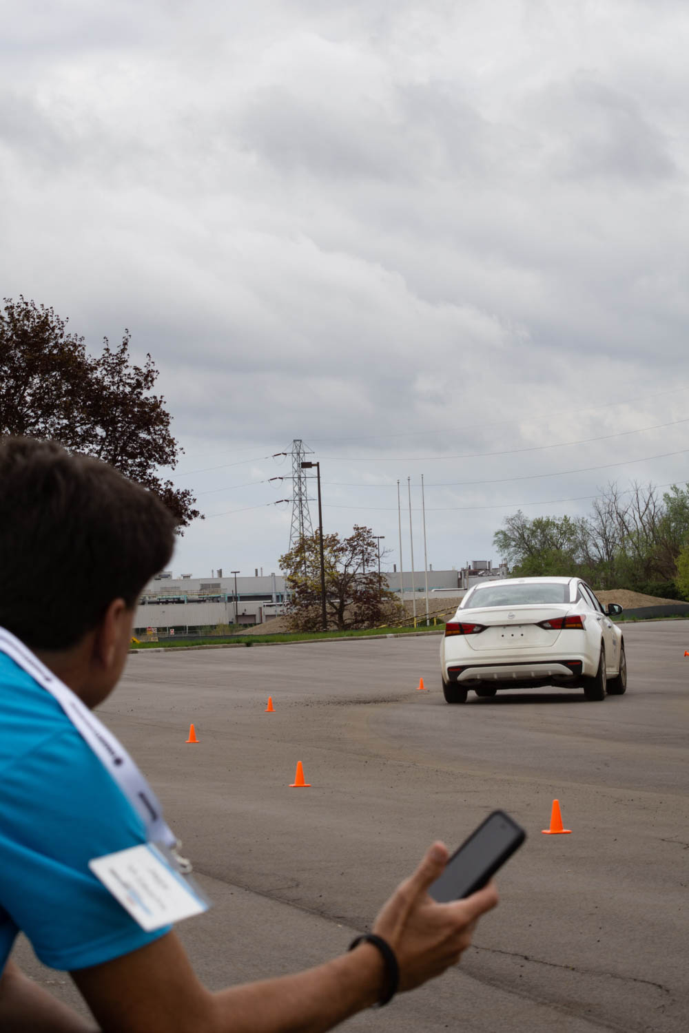 Timing a teammate on the Autocross course