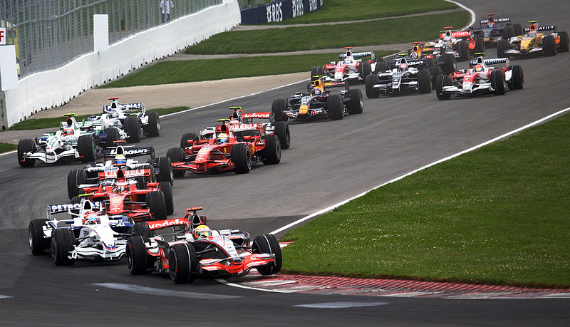 Canadian Grand Prix turn 1 lap 1