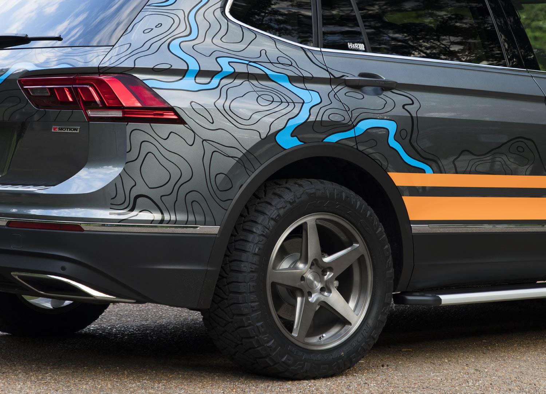 Volkswagen Tiguan Adventure Concept paint detail
