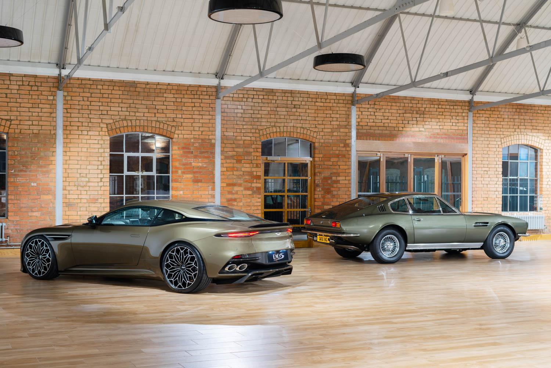 Aston Martin On Her Majesty's Secret Service edition DBS Superleggara old and new