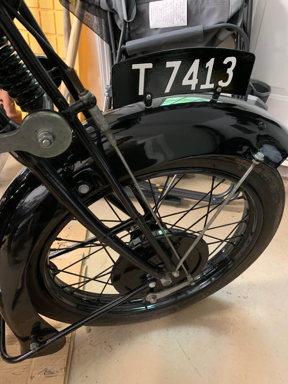 1928 BSA S28 Sloper front wheel