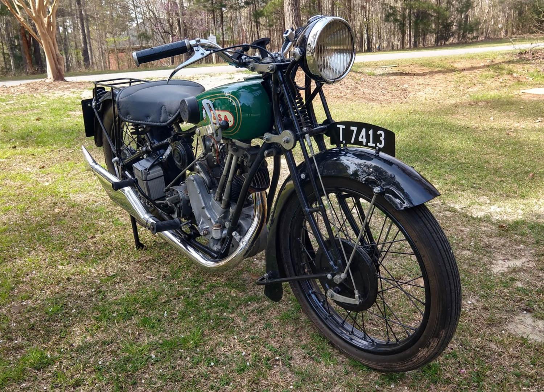 1928 BSA S28 Sloper front 3/4