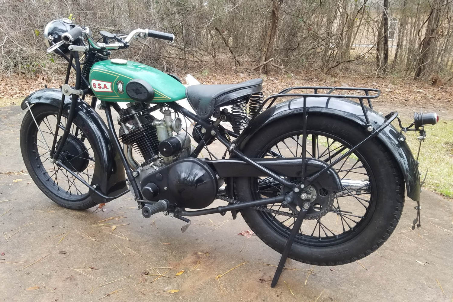 1928 BSA S28 Sloper rear 3/4