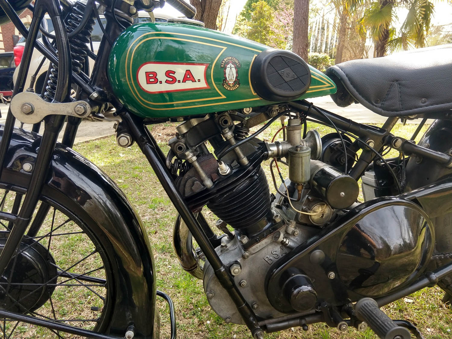 1928 BSA S28 Sloper gas tank