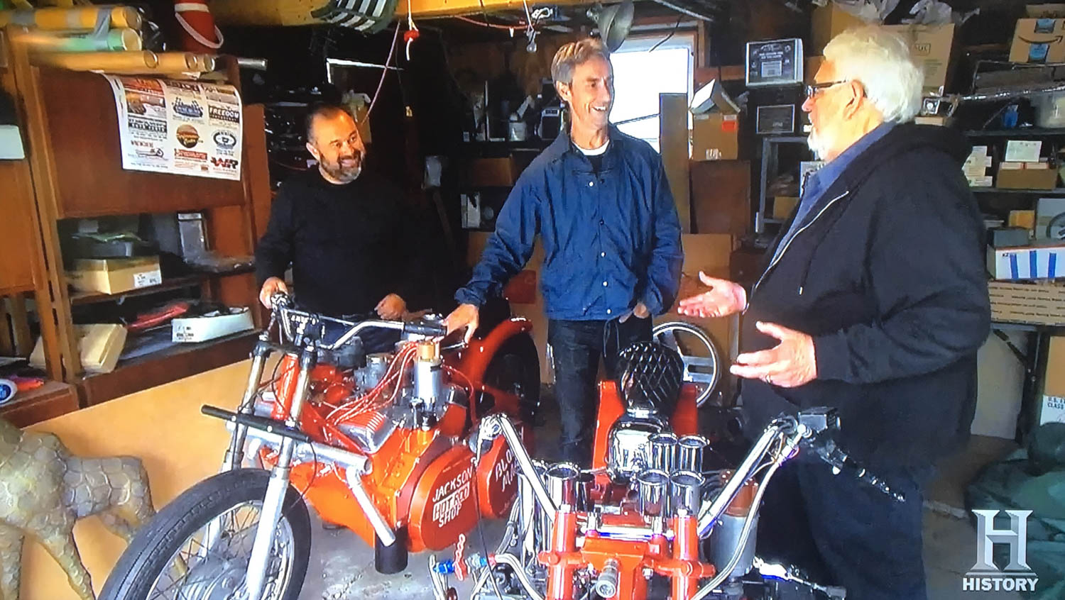 "American Pickers' Frank Fritz and Mike Wolfe discuss ""The Michigan Madman"" with Clyde Hensley"