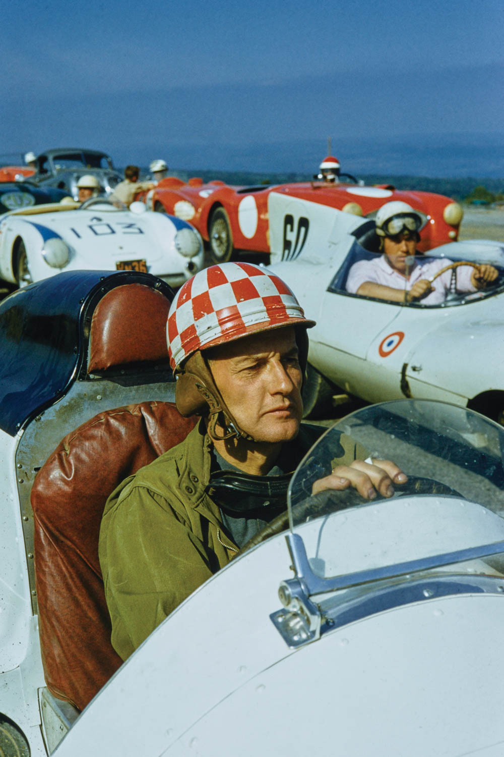 Primitive helmets, collared shirts, and not a roll bar in sight—the racers of the SCCA's early era were made of stern stuff.